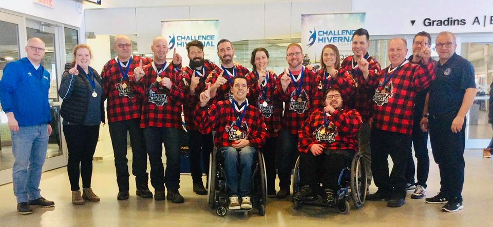 Parahockey: les Lumberjacks remportent une médaille d'or au challenge Adaptavie